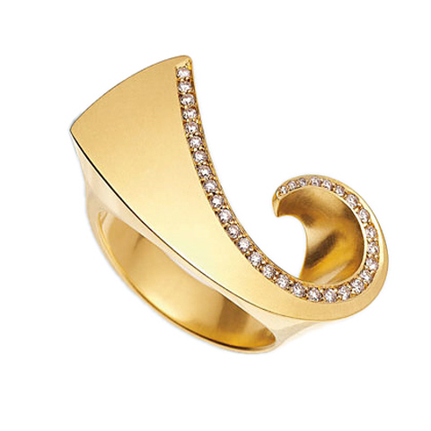18K Diamond 'Comet' Ring
