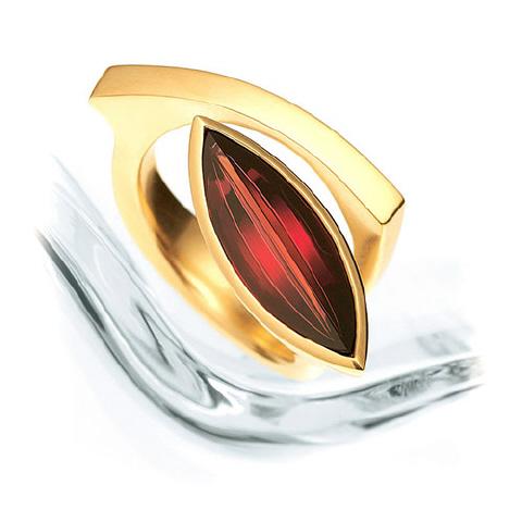 'Lagoon' Garnet Ring