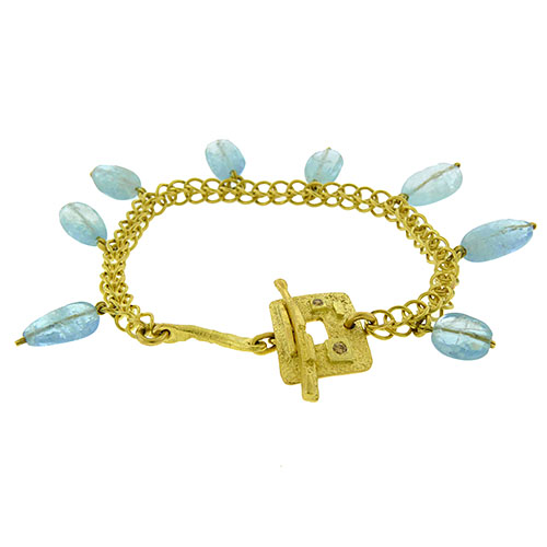 Aquamarine Charm Bracelet