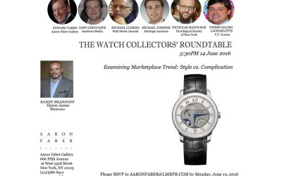Aaron Faber Reconvenes The Watch Collectors' Roundtable
