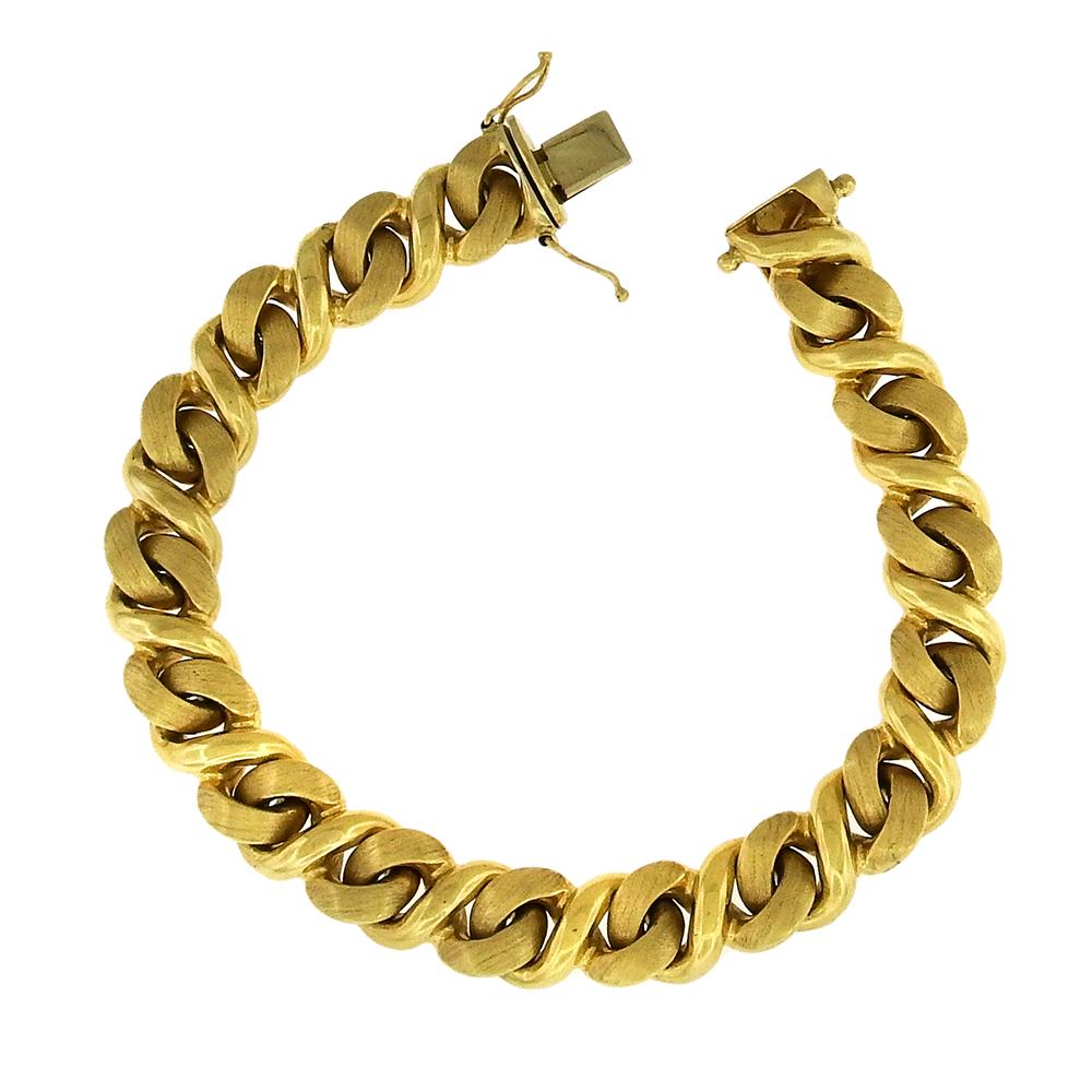 Gold Curb Link Bracelet