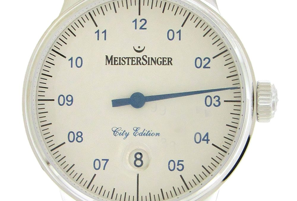 Stainless Steel Meistersinger NYC Ltd Edition Skyline Automatic