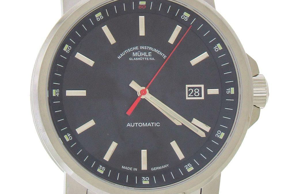 Muhle Men's Big 29'er Automatic Watch, Black Dial