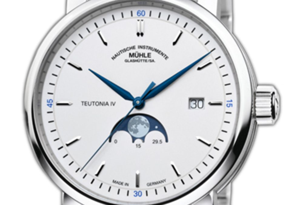 Stainless Steel Muhle Teutonia IV Moonphase Wristwatch