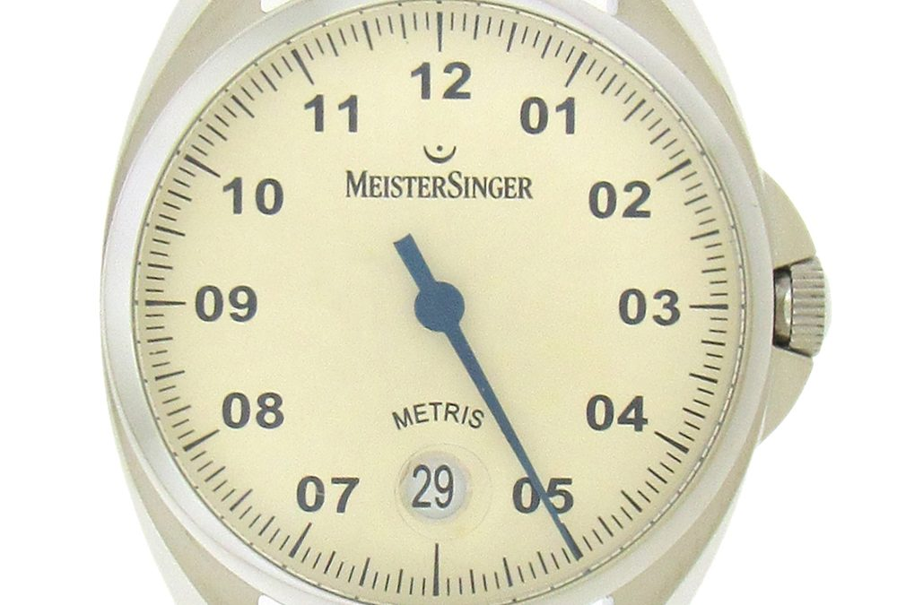 Stainless Steel Meistersinger Metric Date Automatic