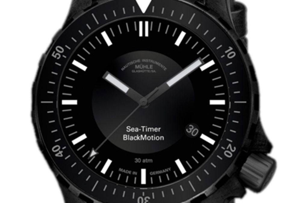 Muhle Sea-Timer Black Motion Wristwatch