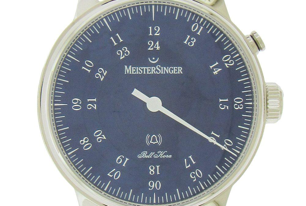 Meistersinger Bell Hora Blue Dial Wristwatch