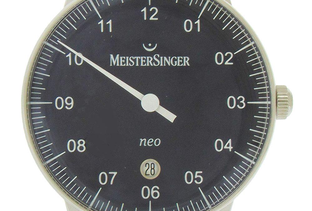 Meistersinger Neo Date Blue Dial Wristwatch